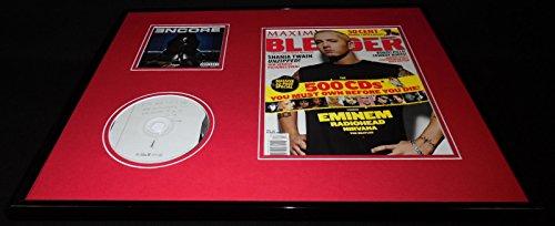 Eminem 16x20 Framed ORIGINAL 2002 Blender Magazine Cover & Encore CD Set