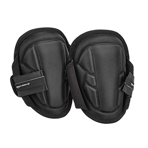 AmazonCommercial Gel-Foam Soft Cap Work Knee Pads, 9 in, Black, 1 pair