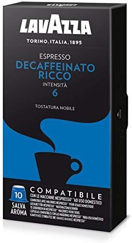 200 capsule caffè Lavazza compatibili NESPRESSO DECAFFEINATO RICCO