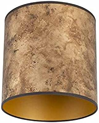QAZQA Algodón y poliéster Pantalla bronce/oro 25/25/25, Redonda/Cilíndrica Pantalla lámpara colgante,Pantalla lámpara de pie: Amazon.es: Iluminación