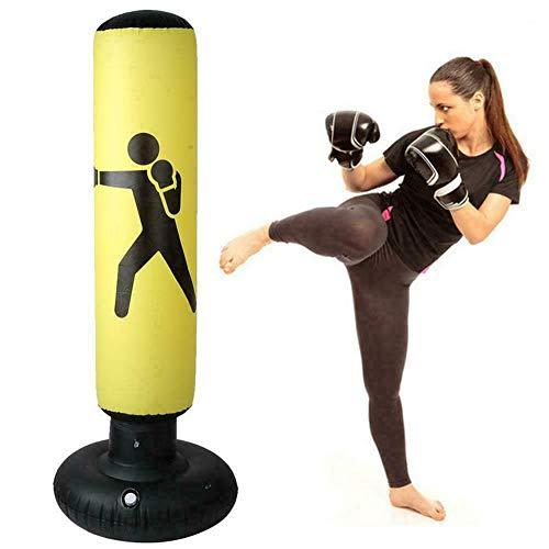 KKOODLL Vertikaler aufblasbarer Boxsack - 160 cm aufblasbarer Boxsack PVC-Verdickung aufblasbarer Boxsack Fitness-Training Tumbler-Boxausrüstung