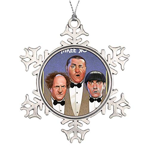 VinMea Christmas Ornaments Snowflake The Three Stooges Metal Christmas Ornaments For Decorating Christmas Trees,Holiday Party,Wedding