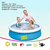 WMQ Above Ground Swimming Pool Home Adult Children Thickening Family Kids Adults Outdoor, Above Ground, Backyard, Swimming Pool