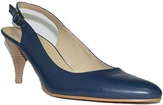 2b66409a Flex Technology - HRD Tacón Fino Zapatos Mujer Tacón Medio Piel Fino Fiesta  Vestir Elegante Confort