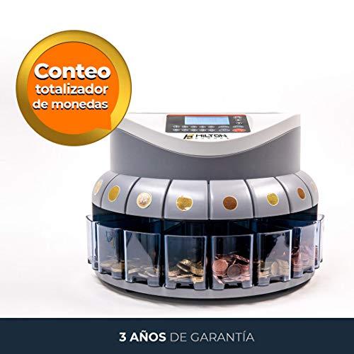 HILTON EUROPE G-550 Contador de monedas Clasificador de monedas de euro con...