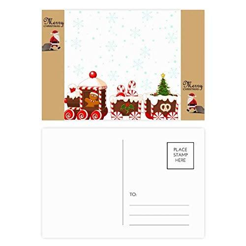 Kerstmis Snoep Trein Festival Kerstman Gift Ansichtkaart Thanks Card Mailing 20 stks