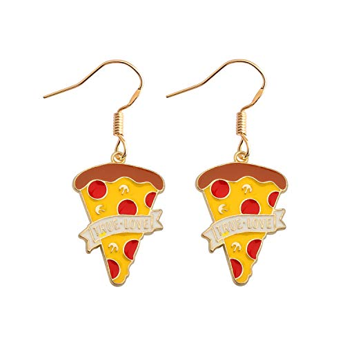SEIRAA Pizza Earrings Pizza Lover Gift Mini Food Jewelry Friendship Gift Miniature Pizza Slice Post...