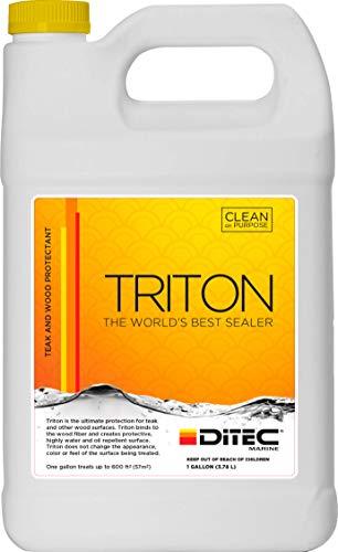 DITEC Marine Triton - Teak Protector, 1 Gallon   Teak Protector   Marine Cleaning Products   Teak Oil Replacement   Teak Sealer and Teak Cleaner