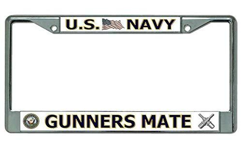 Diuangfoong U.S. Navy Gunners Mate Marco de matrícula cromado