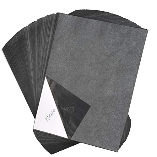 YOTINO 100 Blatt Kohlepapier A4 Carbon Papier Graphitpapier für Holz, Papier, Segeltuch usw. + Prägestift mit 5 auswechselbaren Spitzen Kohlepapier Transfer-Papier Kohlepapier