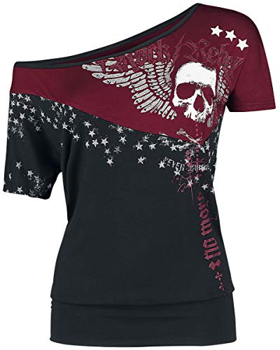 Rock Rebel by EMP Can You Read My Mind Mujer Camiseta Negro XXL
