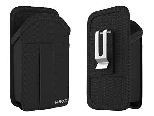 AGOZ Tragetasche für Microsoft Surface Duo, Gürtelclip Tasche mit Gürtelschlaufe & Kreditkarten-/Ausweisfach
