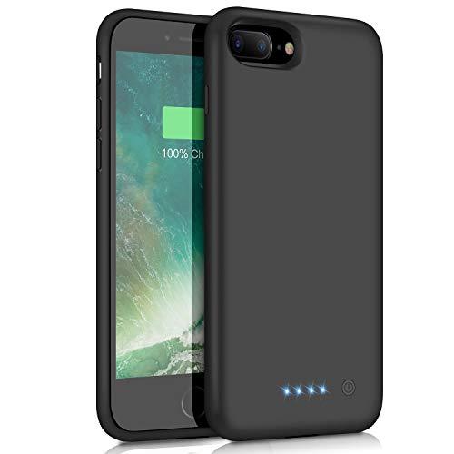 Battery Case for iPhone 6 Plus / 7 Plus / 8 Plus, 8500mAh Portable Battery Pack Rechargeable Protective Smart Battery Case for iPhone 6 Plus / 7 Plus / 8 Plus External 5.5 inch Charging Case - Black