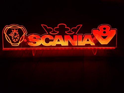 24?V LED Light Neon plaque pour Trucker Camion Rouge Eclairage plaque Table Couronne Eagle Cabine D?coration Accessoires grav? au laser 24?V/5?W