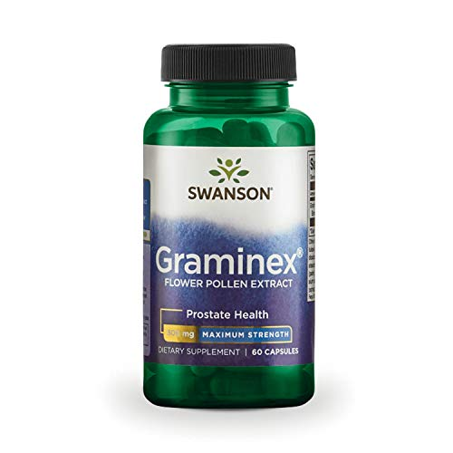 Swanson Max-Strength Graminex Flower Pollen Ext 500 Milligrams 60 Capsules