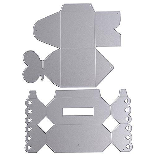2 Stück Metall Geschenkbox Form Stanzschablonen Metall Schneiden Schablonen für DIY Scrapbooking Album, Schneiden Schablonen Papier Karten Sammelalbum Deko