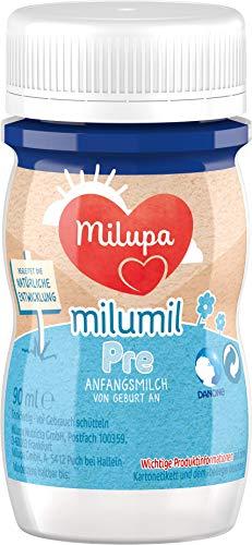 Milupa Milumil Pre Anfangsmilch, trinkfertig, 24er Pack (24 x 90 ml)