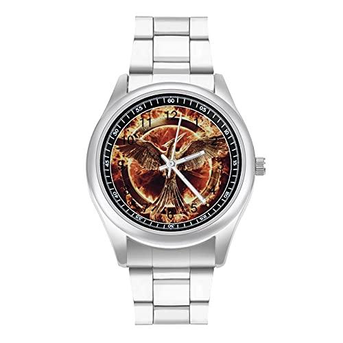 Hamger Games - Reloj de pulsera con correa de acero para negocios