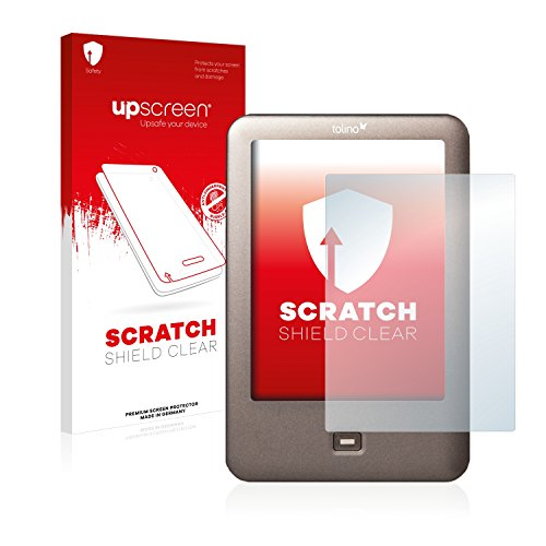 upscreen Schutzfolie kompatibel mit Tolino Shine – Kristallklar, Kratzschutz, Anti-Fingerprint