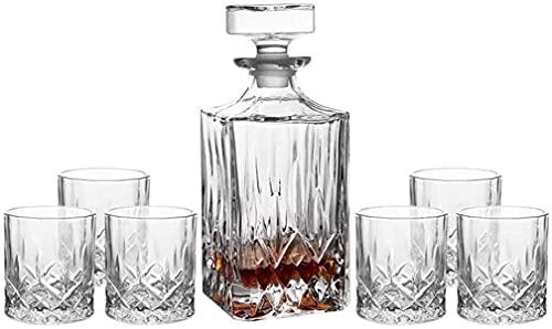 YHQKJ Vasos de Whisky Juego de decantores de Whisky, decantador de Bourbon y Conjunto de Vidrio, Conjunto de marcadores de Cristal de Whisky para Hombres, Licor, anteojos Escoceses (Color : #4)