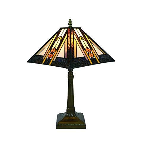 Tokira Vintage Tiffany Lampada Da Tavolo 10 Pollici, Vetro Colorato Paralume, Lampada Da Scrivania Tonalità Stile Semplice