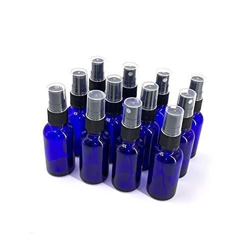 Sookg 12×30ml Glasflasche Sprayflasche,Es hat eine Zerstäubungsfunktion und eine Anti-ultraviolette Wirkung,Für Parfüm, ätherisches Öl, Hautpflegelotion, Gesichtstoner (blau)