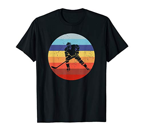 Eishockey Spieler Vintage Ice Hockey Retro Hockey Sun T-Shirt