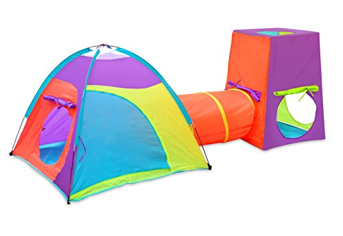 GigaTent Large Kids Play Tent Indoor/Outdoor Playhouse Indoor & Outdoor for kids games in the summer in the yard for outdoor lawn games