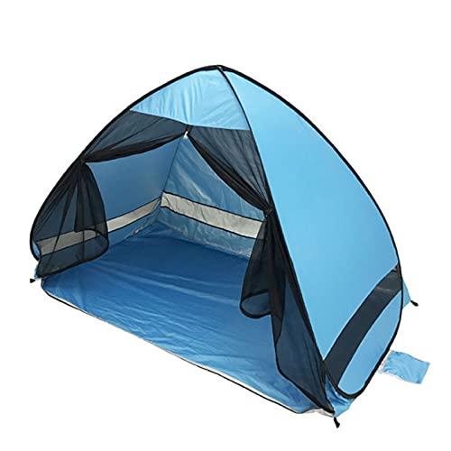 GDYJP Tienda de Sombra de Playa Anti-Mosquito con Gasa UV Protección automáticamente Camping al Aire Libre de Playa portátil de Carpa con Cortina de Malla (Color : Sky Blue)