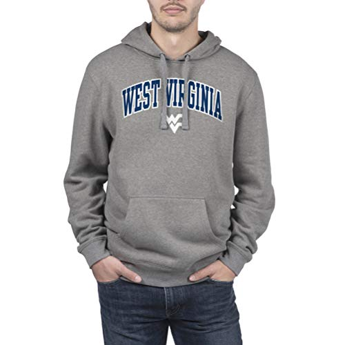 NCAA West Virginia Mountaineers Men's Hoodie Sweatshirt Dark Charcoal Gray, Dark Heather, XX-Large