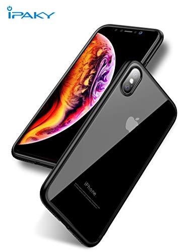 IPAKY Schutzhülle für iPhone XS/iPhone X, Ultra Hybrid 2, Air Dämpfungstechnologie und Hybrid Schutz vor Stürzen – Schwarz