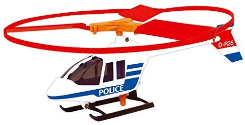 Paul Günther 1684 - Helikopter Police Copter, Polizei Hubschrauber mit Powerzug Schnellstartgriff, sofort startklar, Rotordurchmesser ca. 27 cm