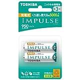 TOSHIBA ニッケル水素電池 充電式IMPULSE ライトタイプ 単3形充電池(min.950mAh) 2本 TNH-3LE2P