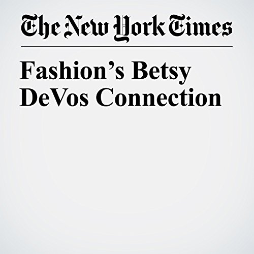 Fashion's Betsy DeVos Connection copertina