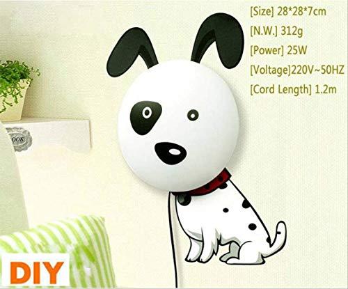 2018 New Wallpaper Wand Aufkleber Papier Wand Lampe Nacht Light 3D Diy Novelty Kid Baby Bedroom Cartoon Nachtlampe Home Decor Dog