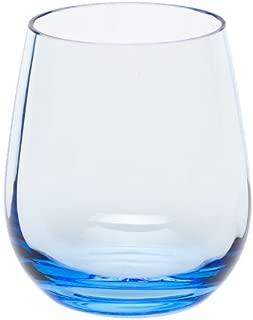 MOSER CRYSTAL OPTIC Double old fashioned 12.2 oz. optic aquamarine