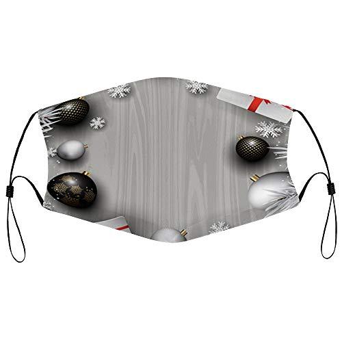 DKISEE - Máscara de protección para el polvo unisex con elemento de filtro ajustable para la oreja, máscara protectora para exteriores (decoraciones de Navidad en madera)