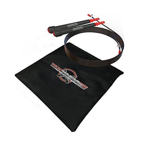 Speed Rope Springseil High Speed Seil Perfekt für Double Unders Optimal für Crossfit  WODs Boxtraining MMA und Fitness Abbildung 3