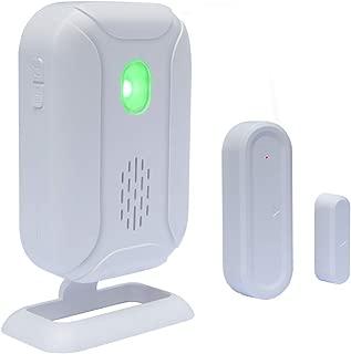 WiHoo Wireless Doorbell Open Chime,Home Security Sensors Expandable Alarm(Operating Range - 900FT/36 Chime Tunes /4 Volume Levels/LED Flashing Light) - 1 Magnetic Door Alarm Sensor, 1 Receiver