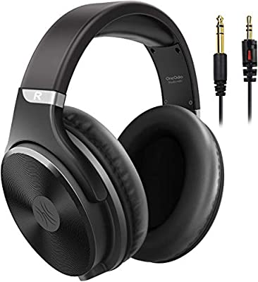 OneOdio Over Ear Headphone Wired Hi-Fi Studio Headphones 50mm Speaker 1/4 inch Jack Adapter Closed-Back Headphones for DJ Electric Drum Keyboard Guitar PC iPad Music by Oneodio