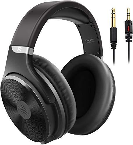 OneOdio On Ear Kopfhörer mit Kabel, Grosse Geschlossene Studio HiFi Kopfhörer Over Ear mit 50mm Treiber, Adapter Frei Headphones mit 3.5-6.35mm Buchse für Recording PC MP3 Gitarre Piano