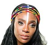 Vibrant Colorful African Headband   African Headwrap   African Hair Accessories   Red Green Blue Orange   Kitenge Headband