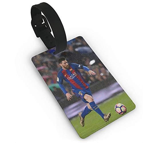 Fútbol Li-On-El Me-SSI Etiquetas de equipaje de cuero para hombres y mujeres etiquetas de maleta bolsa de equipaje etiquetas de identificación etiquetas de viaje accesorios de PVC