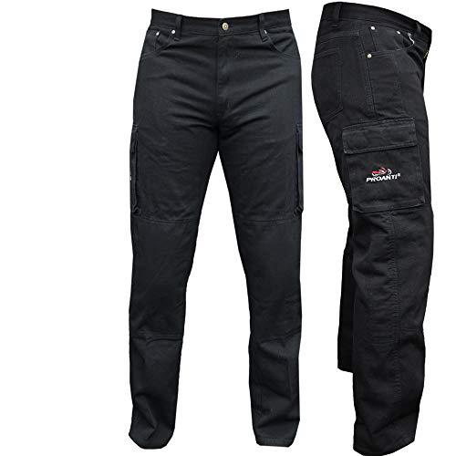 PROANTI Motorradhose Jeans Aramid Motorrad Jeanshose mit Protektoren