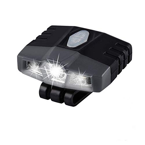 Ultra Bright Mini Hands Free Cree LED Clip on Cap Light - Rechargeable...