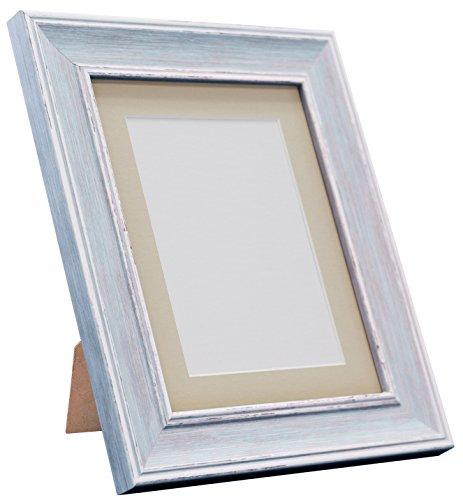 Frames By Post Scandi Vintage fotolijst Lichtgrijze houder A2 Image Size A3 Distressed Blue