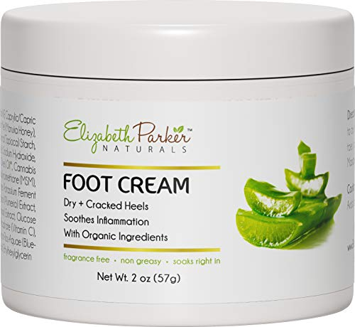 Foot Cream for Dry Cracked Feet and Heels - Anti Fungal Cream for Athletes Foot Treatment - Best Callus Remover for Feet with Shea Butter Aloe Vera & Coconut Oil - Fragrance Free & Non Greasy (2 oz)