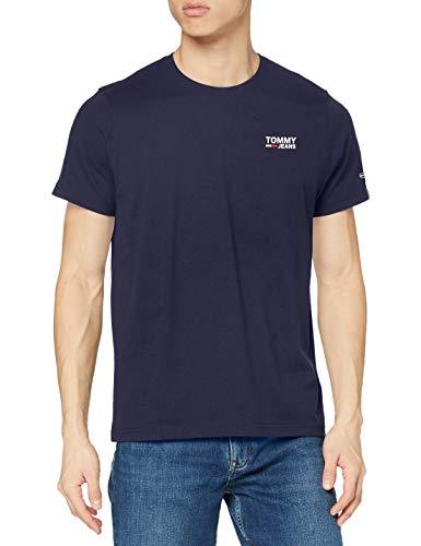 Tommy Hilfiger Herren TJM Regular Corp Logo C Neck T-Shirt, Marineblau (Twilight Navy), L