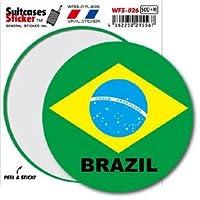 WFS-026 BRAZIL ブラジル 国旗ステッカー サークル スーツケースステッカー