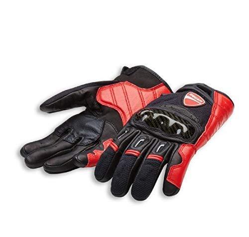 Ducati Alpinestars Company C1 Handschuhe aus Leder und Stoff schwarz/rot Größe M